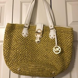 Michael kors straw purse